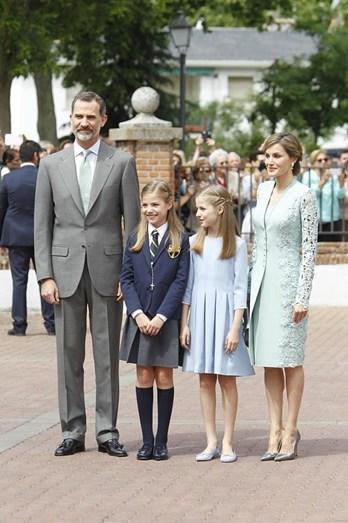 Os reis de Espanha com as duas filhas, Leonor e Sofia