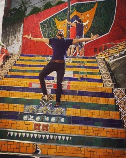 """O ator partilhou esta fotografia no Instagram com a legenda: """"Rio eu Te Amo!"""""""