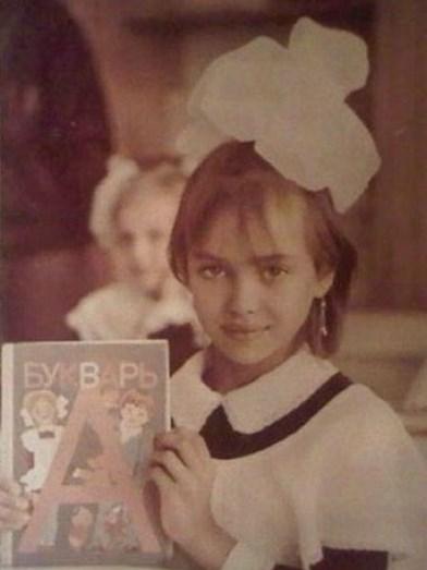 Irina quando ainda era criança