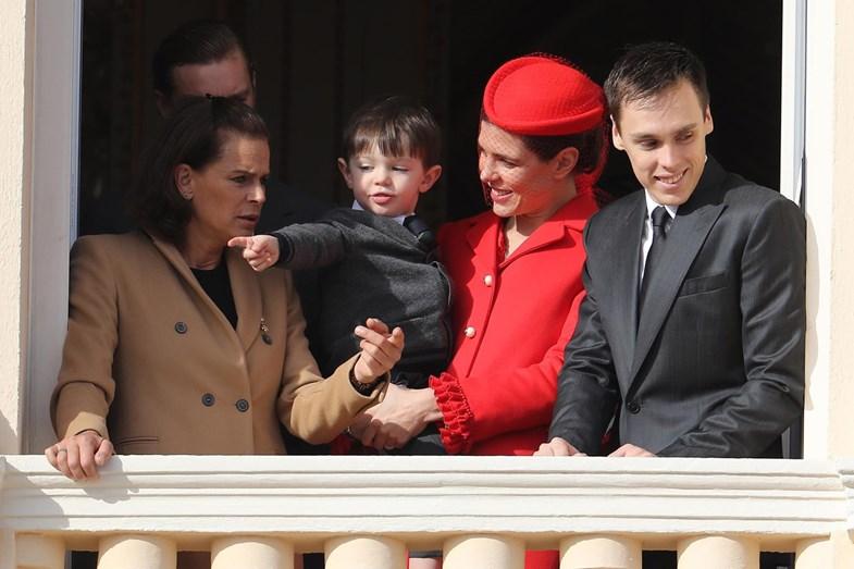 Primeira aparição do filho de Charlotte do Mónaco