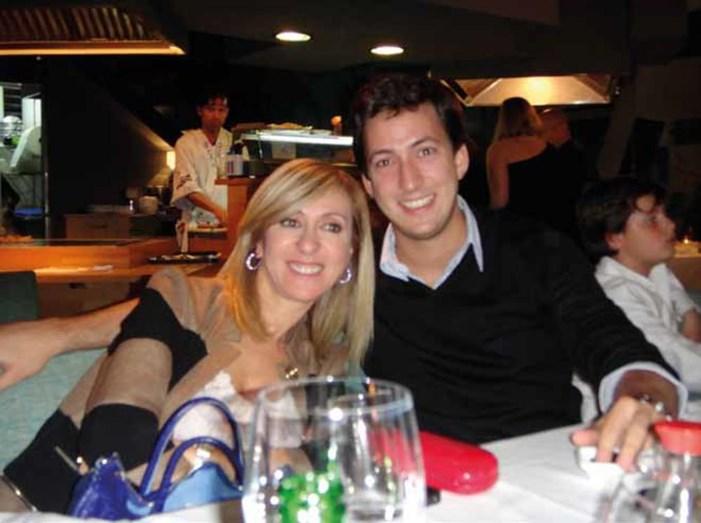 Judite de Sousa e o filho André, que morreu aos 29 anos, vítima de uma queda em uma piscina, na casa de amigos