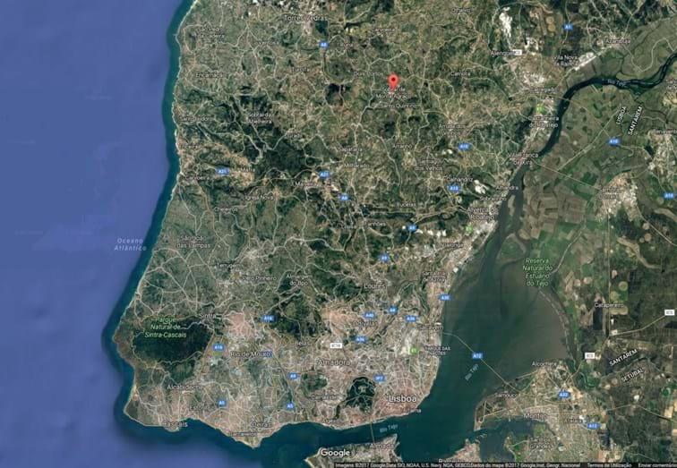Sobral de Monte Agraço fica a cerca de 50 kms a norte de Lisboa