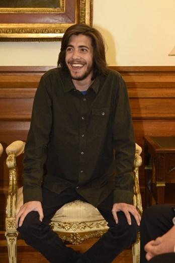 O cantor foi recebido na Assembleia da República