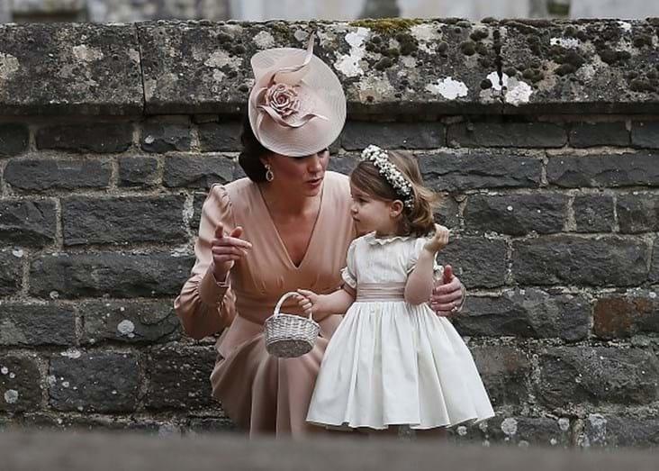 Kate e a princesa Charlotte