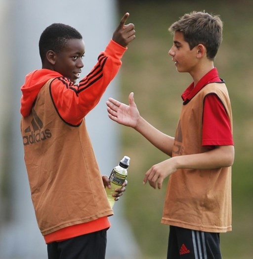 David Banda a treinar na Academia do Benfica, no Seixal
