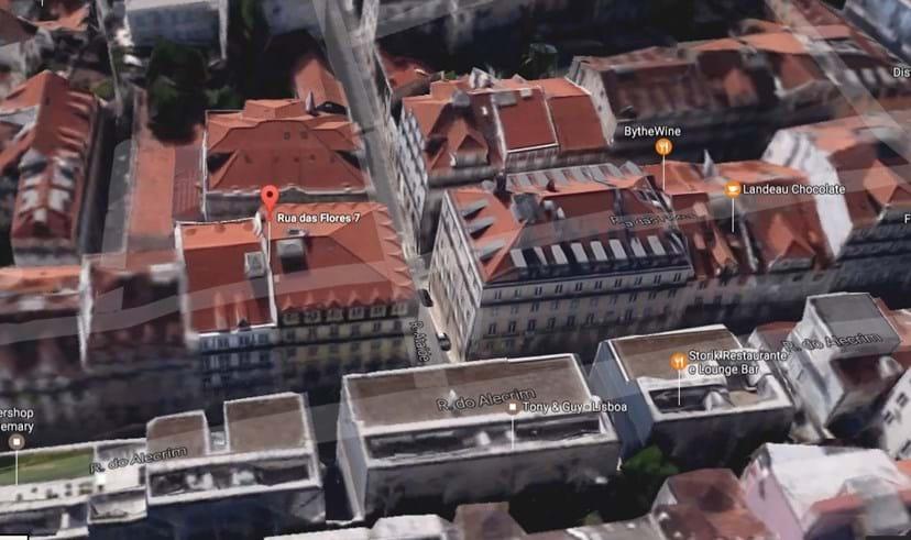 Palácio das Flores, na Rua das Flores, Lisboa
