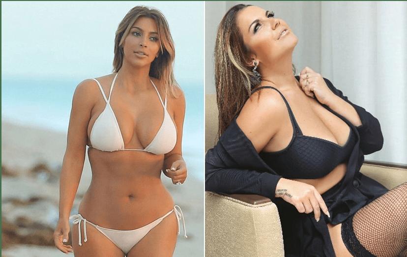 Kim Kardashian e Katia Aveiro
