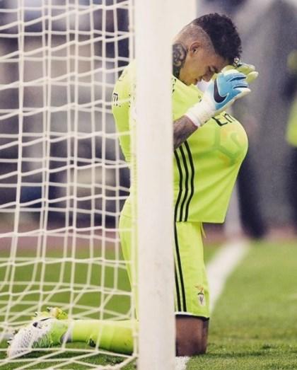 O guarda-redes Ederson que vai ser pai fez o seu último jogo pelo Benfica