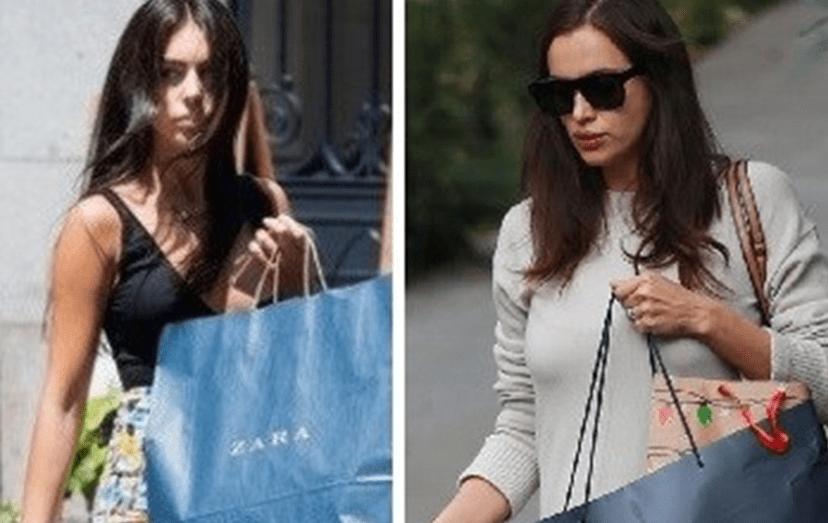 Tal como Irina fez quando ficou grávida, também Georgina tenta esconder a gravidez com sacos de compras