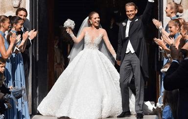 As imagens do casamento de luxo de Victoria Swarovski