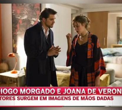 Diogo Morgado e Joana de Verona apanhados de mão dada