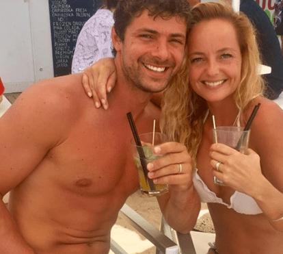 Bárbara Norton de Matos passa lua-de-mel em destino de praia