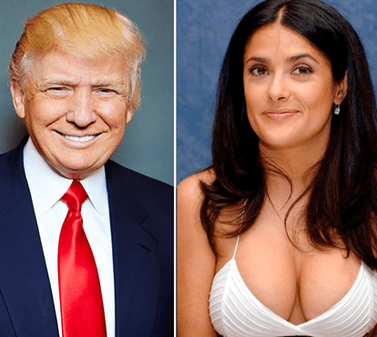 Donald Trump quis seduzir Salma Hayek