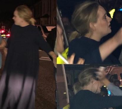 Adele e outras celebridades visitam prédio da tragédia