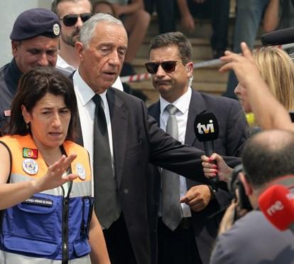 Marcelo e ministra em lágrimas ao falar de bombeiro morto
