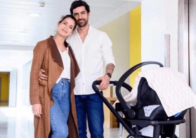 Ana Varela encantada com a filha recém-nascida