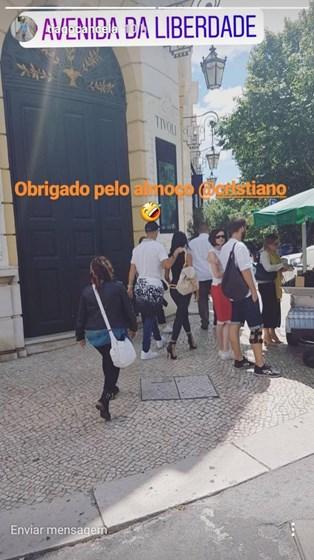 Georgina Rodríguez mostra barriga de grávida em Lisboa