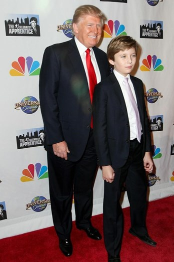 O presidente norte-americano com o filho mais novo