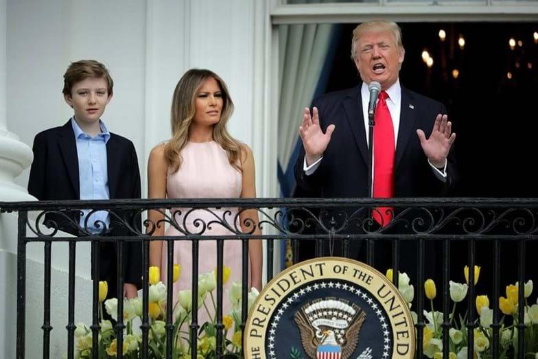 Donald, Melania e Barron Trump