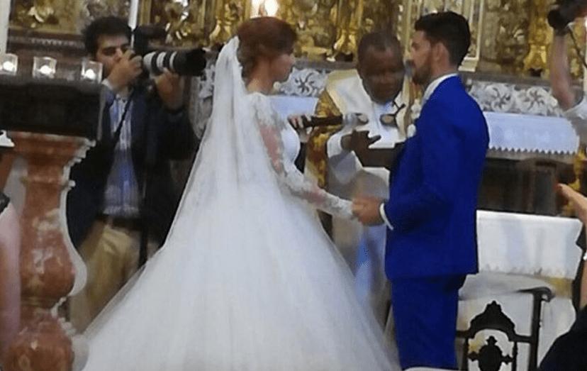 Pizzi e Maria casaram hoje, dia 4 de Junho