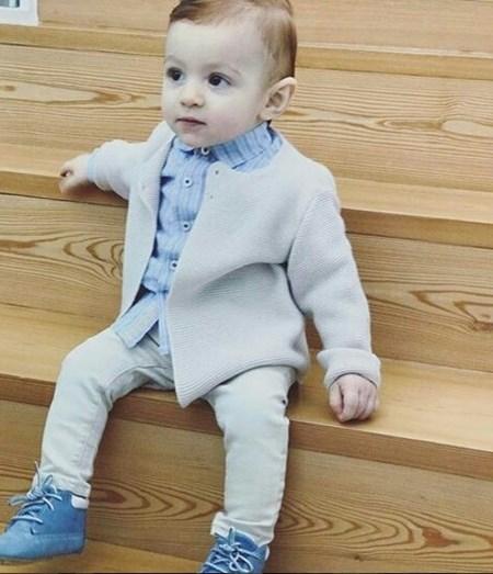 Afonso, o primeiro filho do casal, nasceu em abril de 2016