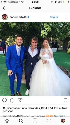 Casamento de Pizzi do Benfica