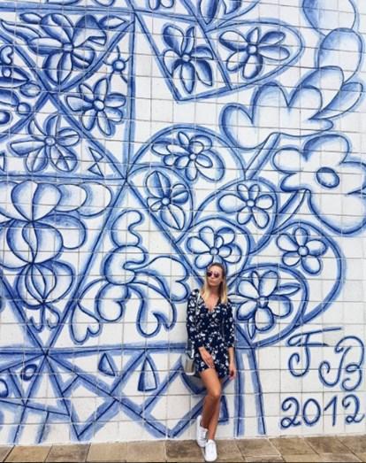 Sofia já visitou alguns pontos turísticos da cidade de Pernambuco, como é o caso da Oficina Francisco Brennand