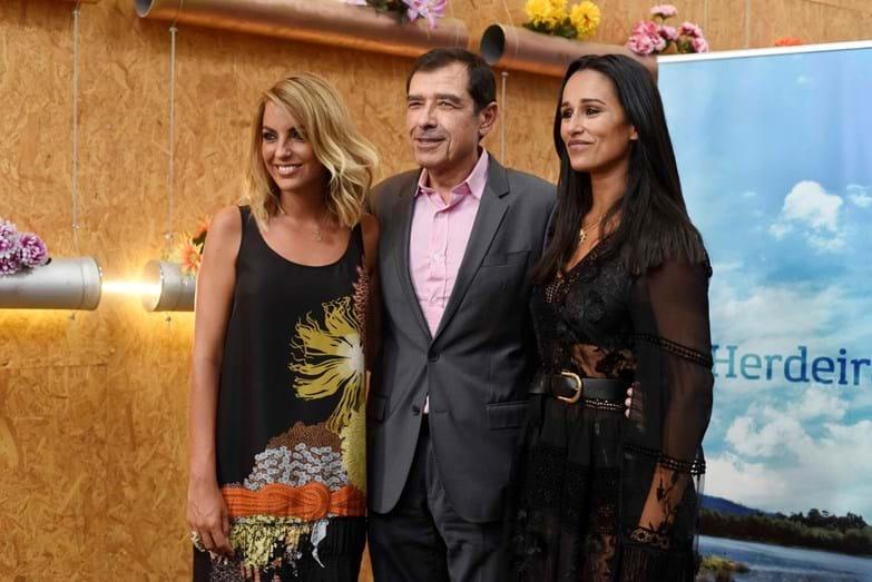 Jessica Athayde, José Eduardo Moniz e Rita Pereira