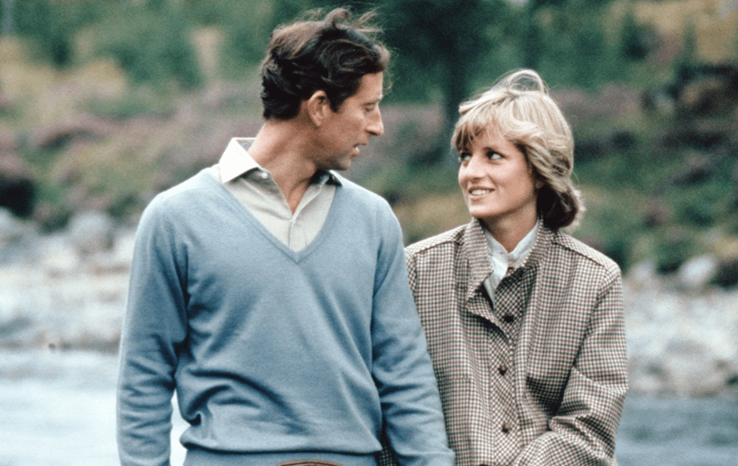 Diana e Charles durante a sua lua de mel a Balmoral