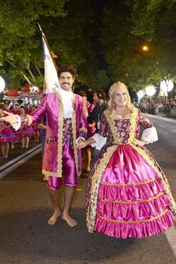 Bruno Cabrerizo e Teresa Guilherme foram os padrinhos da marcha da Madragoa