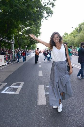 Cláudia Vieira foi uma das convidadas da Câmara Municipal de Lisboa para assistir ao desfile das Marchas Populares no camarote presidencial