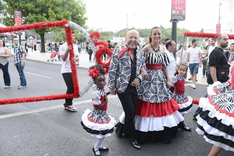 Eduardo Beauté e Marta Cruz foram os padrinhos da marcha dos Mercados