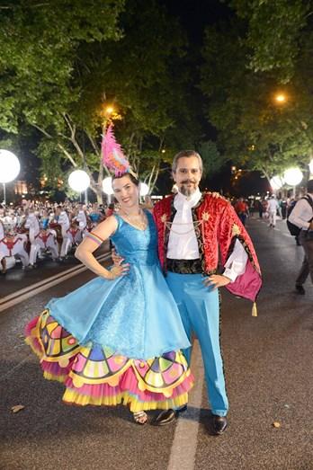 Carla Chambel e Rui Neto foram os padrinhos da marcha de Carnide, que venceu o prémio de Melhor Cenografia