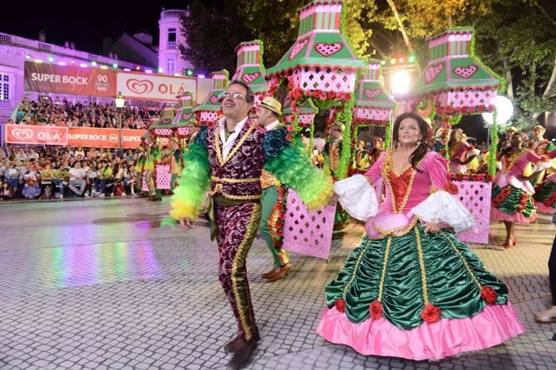 Tiago Torres da Silva e Rita Ribeiro foram os padrinhos da marcha da Bica