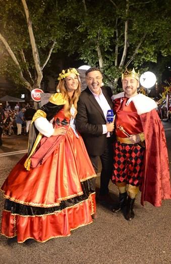 José Carlos Malato com os padrinhos de Santa Engrácia, Isabel Figueira e Fávio Furtado