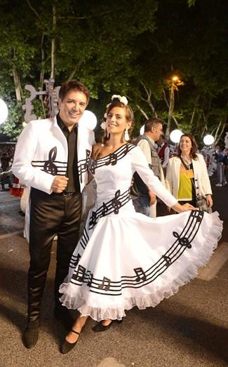 Fernando Pereira e Liliana Santos foram os padrinhos da marcha de Campo de Ourique