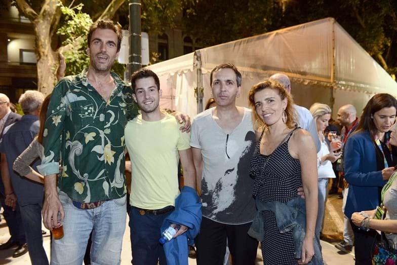 Dino Alves e Marina Albuquerque com amigos