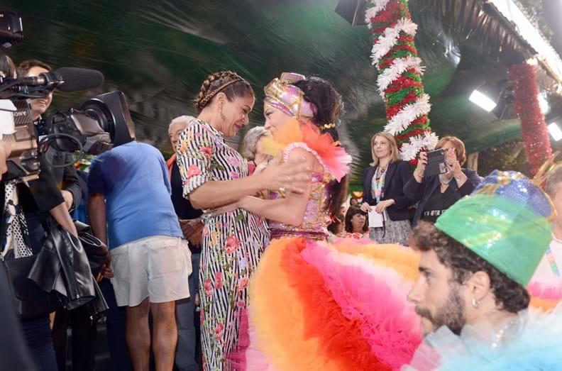 Raquel Tavares com a madrinha da marcha do Alto do Pina, Filipa Cardoso