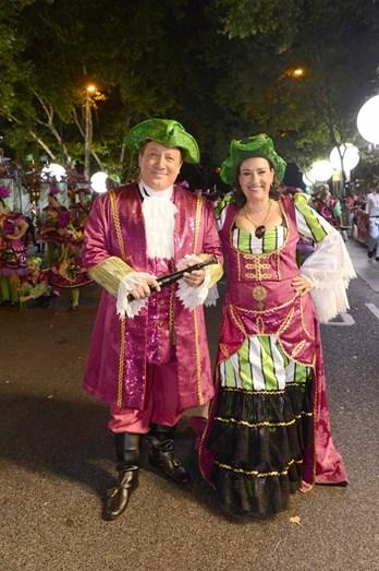 Os padrinhos de Bela Flor/Campolide: Herman José e Maria Rueff