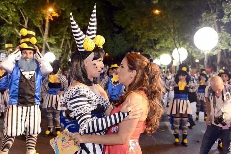 Carla Andrino com Tânia Ribas de Oliveira