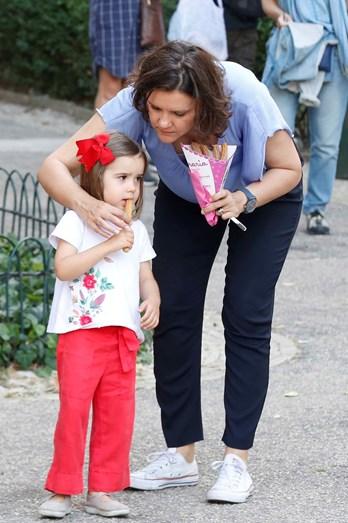 Assunção Cristas com a filha mais nova, Maria da Luz, de 4 anos