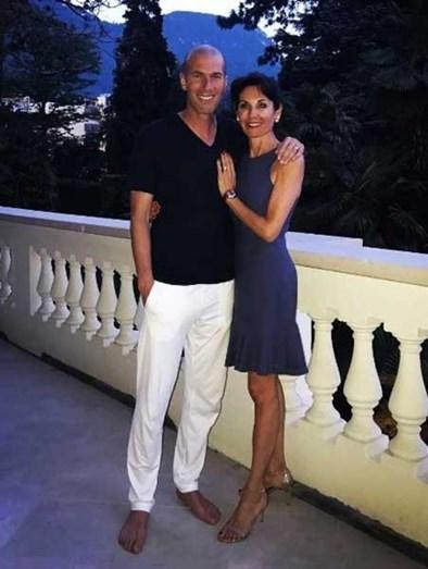 Zidane e a mulher Verónique em Itália
