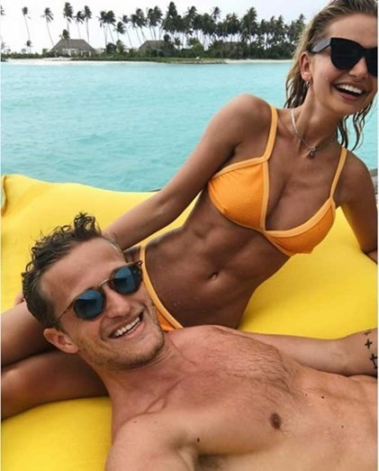 Lindegard e a modelo Sofie Bording nas Maldivas