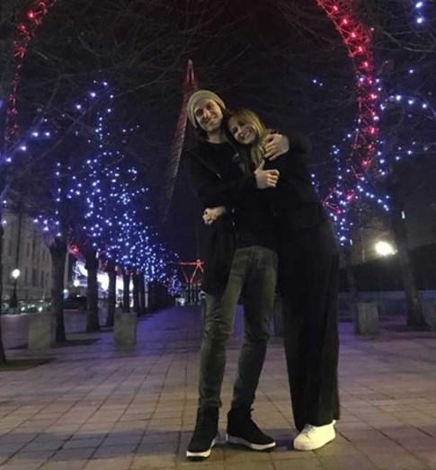 David Luiz e Bruna Loureiro em Paris