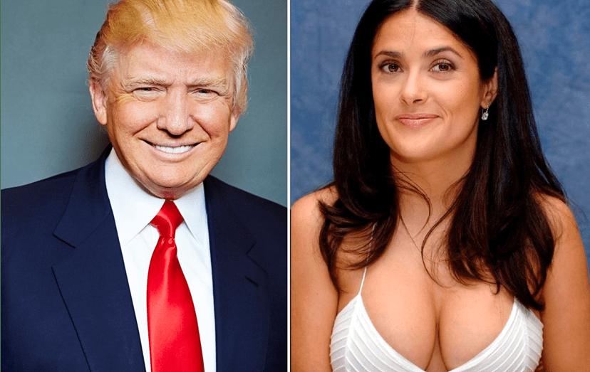 Donald Trump tentou seduzir a atriz Salma Hayek