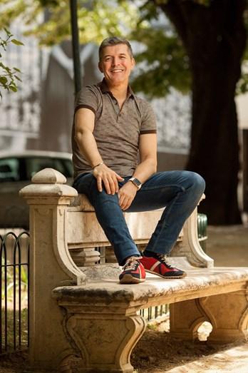 O ator João Baião fotografado em Lisboa