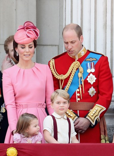 Kate e William com os filhos