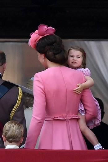 Kate e a filha, a pequena Charlotte
