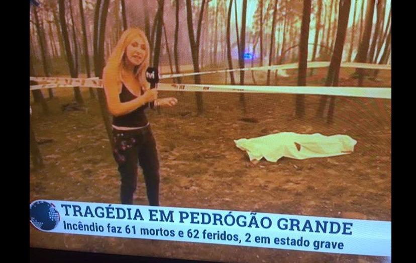 Judite Sousa revolta telespectadores com reportagem junto a cadáver