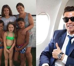Dolores Aveiro de férias no Algarve com os netos. E Ronaldo na China... com outra!